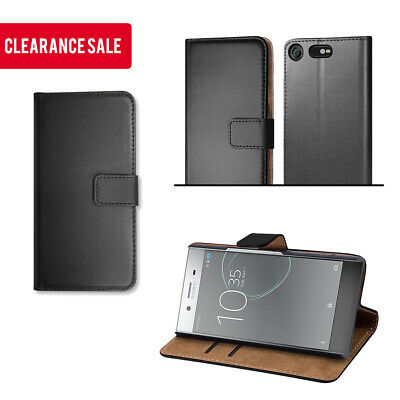 UK CLEARANCE BUY 25 FREE 25 Leather Phone Wallet Case for Sony XPERIA XZ PREMIUM