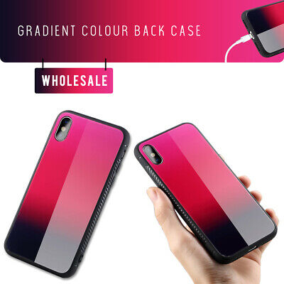 50x NEW Tempered Glass Layer Back Gradient Phone bumper iPhone X CLEARANCE SALES