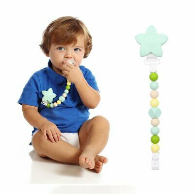 Teething Pacifier Chain for Mom & Baby - BPA Free Silicone Baby Teether Toy