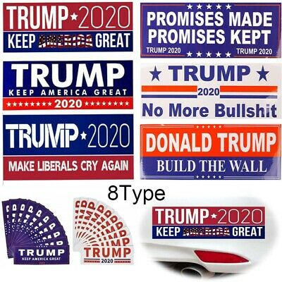 Lots No More Bullshit Donald Trump 2020 Promises President Bumper Stickers MAGA