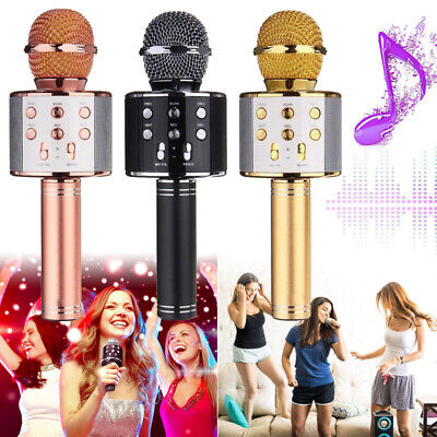 Sing Handheld Wireless Bluetooth Karaoke Microphone USB KTV Player MIC Speaker