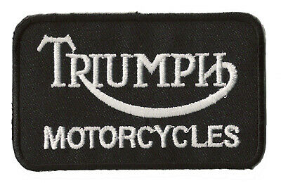 Ecusson patche Triumph motorcycles thermo patch brodé moto racing motard