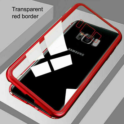 360° Cover Magnetic Absorption Tempered Glass Case For Samsung Galaxy S7 S8 S9