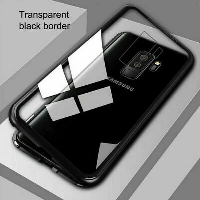 360° Cover Magnetic Absorption Tempered Glass Case For Samsung Galaxy S8 S9 Plus