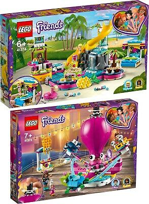 LEGO Friends 41374 41373 Andreas Pool-Party und Oktopus-Karussell N7/19