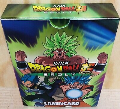 50 Lamincard Cards Carte Dragon Ball Super Il Film Broly