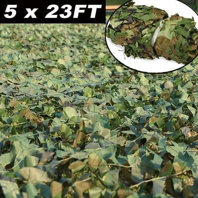 5x23FT Camouflage Netting Camo Army Net Woodland Camping Hunting Cover Shade USA