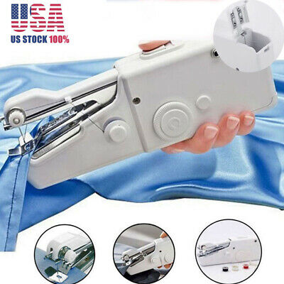 Home Handheld Clothes Sewing Machine Electric Stitch Cordless Fabric Battery US