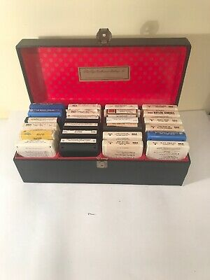 Vintage 8-Track Tape Case With Tapes