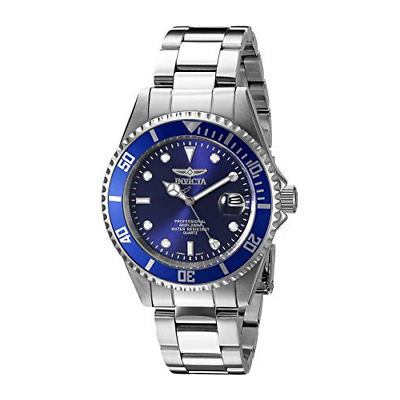 Invicta 9204OB Pro Diver Blue Sunray Dial Silver-Tone Stainless Steel Mens Watch