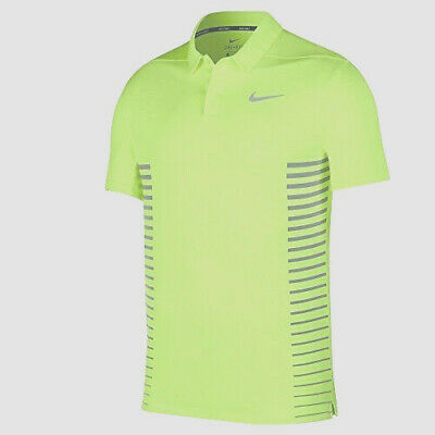 fb16ea94 Nike Men's Zonal Cooling Momentum Polo Golf Shirt L Volt Yellow Gray