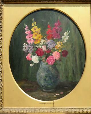 Camille Matisse Flower Study Oil 19th Century French Impressionist