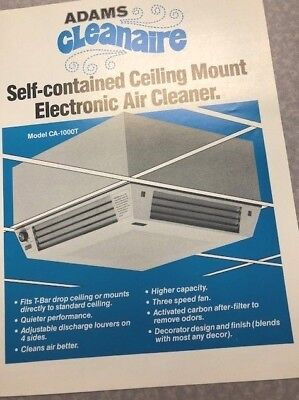Commercial Self-Contained Electronic Air Cleaner Filter CLEANAIRE Smoke Eater