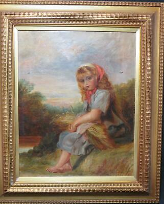 Ex Christie's Henry Le Jeune Young Girl Harvesting Oil English School Circa 1890