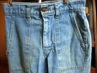 24X27 true Vtg 70s Boys Girls RAW DENINM RAPPERS FLARE DISCO FADE JEANS
