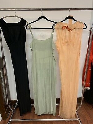 Antique Vintage 1920s 1930s 1940s slip evening gown dress bias cut Lot AS IS