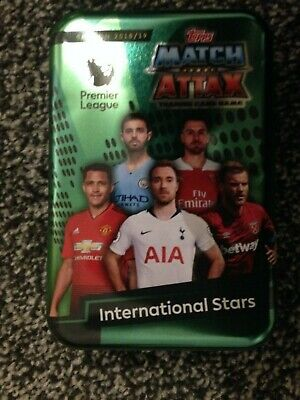 Match Attax 2018/19 International Stars Empty Mega Tin + 100 Cards Inc Limited