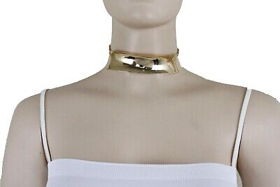 De Mujer Elegante Metal Dorado Placa Fashion Jewelry Gargantilla Collar Corto