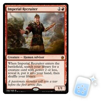 IMPERIAL RECRUITER Masters 25 MTG Red Creature — Human Advisor Mythic