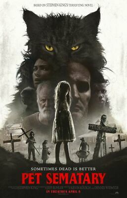 Pet Sematary - original DS movie poster 27x40 D/S FINAL - 2019 Stephen King