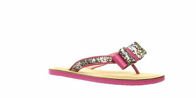 c8307cad2493 Kate Spade Womens Icarda Multi Glitter/Deep Pink Nappa Flip Flops Size 7.5