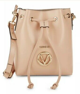 961627b157e BRAND NEW VALENTINO Gray Leather Top Handle Bucket Bag $3295.00 ...