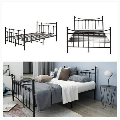 4ft Small Double Metal Bed Frame Headboard Footboard Fit for 120*200cm mattress