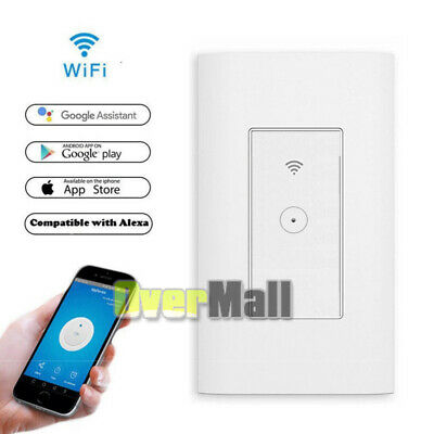 Smart Wifi Light Wall Switch Timer Remote Controller For Alexa Google Home Life