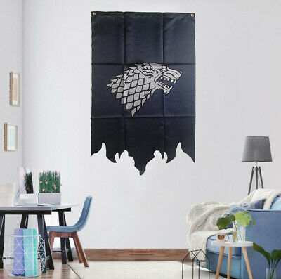 Game Of Thrones House Stark Flag Banner GOT Fans Gift 2.1'x3.2' Home Decoration