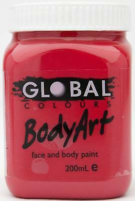 DEEP RED - FACE & BODY PAINT - 200ml Jar