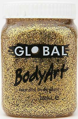 GOLD GLITTER - FACE & BODY PAINT - 200ml Jar