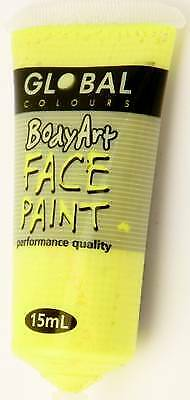 FLOURO YELLOW - FACE & BODY PAINT - 15ml Tube