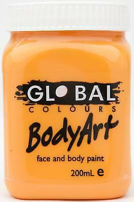 ORANGE - FACE & BODY PAINT - 200ml Jar