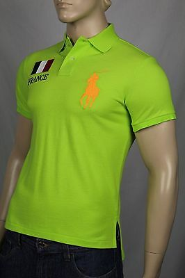 Ralph Lauren Neon Green Custom Fit Big Pony Polo France Shirt NWT