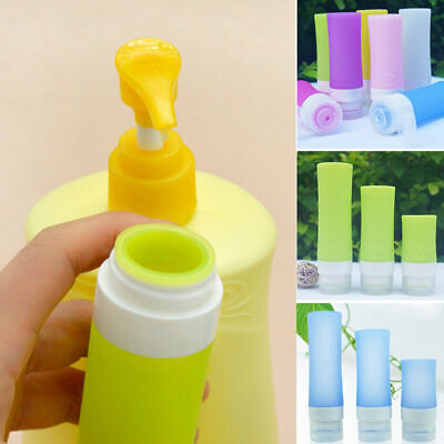 Travel Packing Lotion Shampoo Bottle Silicone Press Bottles For Bath Contai M3J1