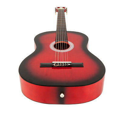 """New 38"""" Beginner Plywood Classical Acoustic 6 Strings Guitar Red"""