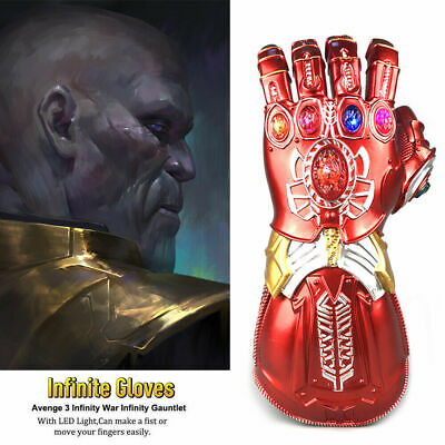 The Avengers Iron Man Stark Arm Gloves LED Light Cosplay Model Toy Gift Prop Hot