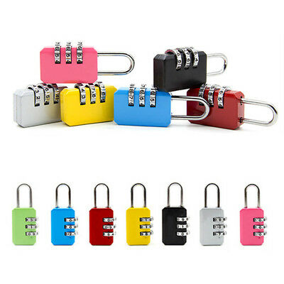 Security 3 Digit Combination Travel Suitcase Luggage Bag Code Lock Padlock CHIC