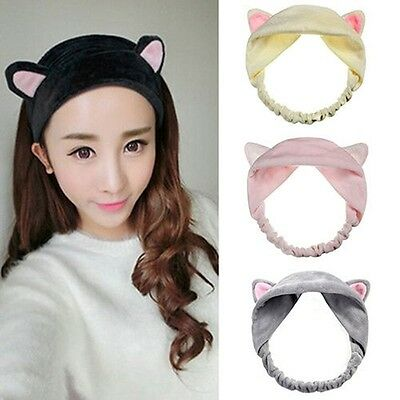 Women Girls Cat Ear Head Band Party Gifts Headdress Hair Accessories Makeup Tool