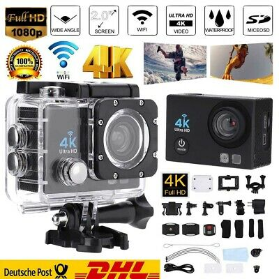 Action Cam HD 4K Digital Sport Kamera Touchscreen WiFi 20MP Dual Wasserdicht DV