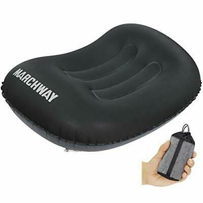 MARCHWAY Ultralight Compact Inflatable Camping Pillow, Soft Compressible Travel