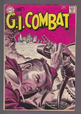 GI Combat # 77  H-Hour for a Gunner : Grey Tone Cover !  grade 4.0 scarce book !
