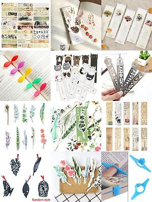 10 Kinds Marker Bookmark Paper Reading Book Paper School Book Student Reading