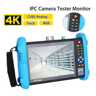 7''4K 1080P IPC Cam CCTV Tester Monitor CVBS Audio Analog Test HDMI Output