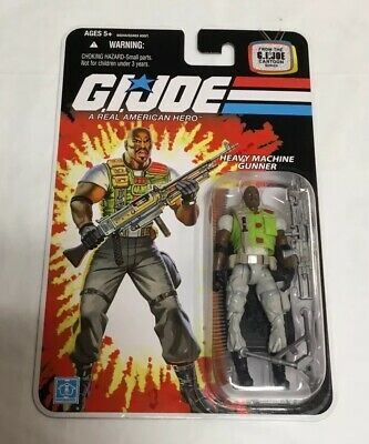 ROADBLOCK GI Joe 25th HEAVY MACHINE GUNNER Cartoon Series ARAH Action Figure