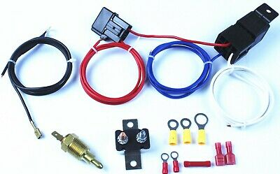 Electric Radiator Engine Fan Thermostat Temperature Switch 12v Relay Kit 350