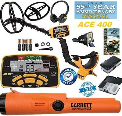 Garrett ACE 400 Metal Detector, Propointer AT, Treasure 55th Anniversary Special