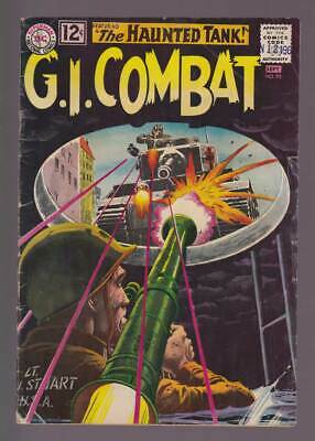 GI Combat # 95  Ghost of the Tank : Grey Tone Cover !  grade 3.0 scarce book !