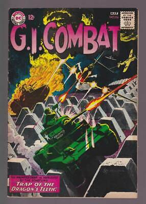 GI Combat # 98  The Dragon's Teeth : Grey Tone Cover !  grade 5.5 scarce book !