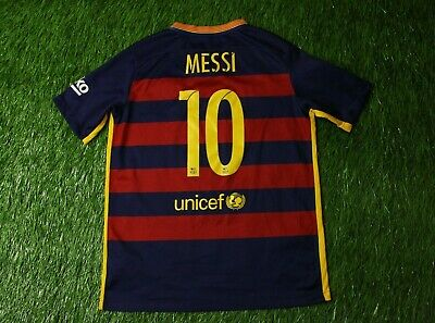 5dd6287437f Barcelona # 10 Messi 2015/2016 Football Shirt Jersey Home Nike Original  Young Xl